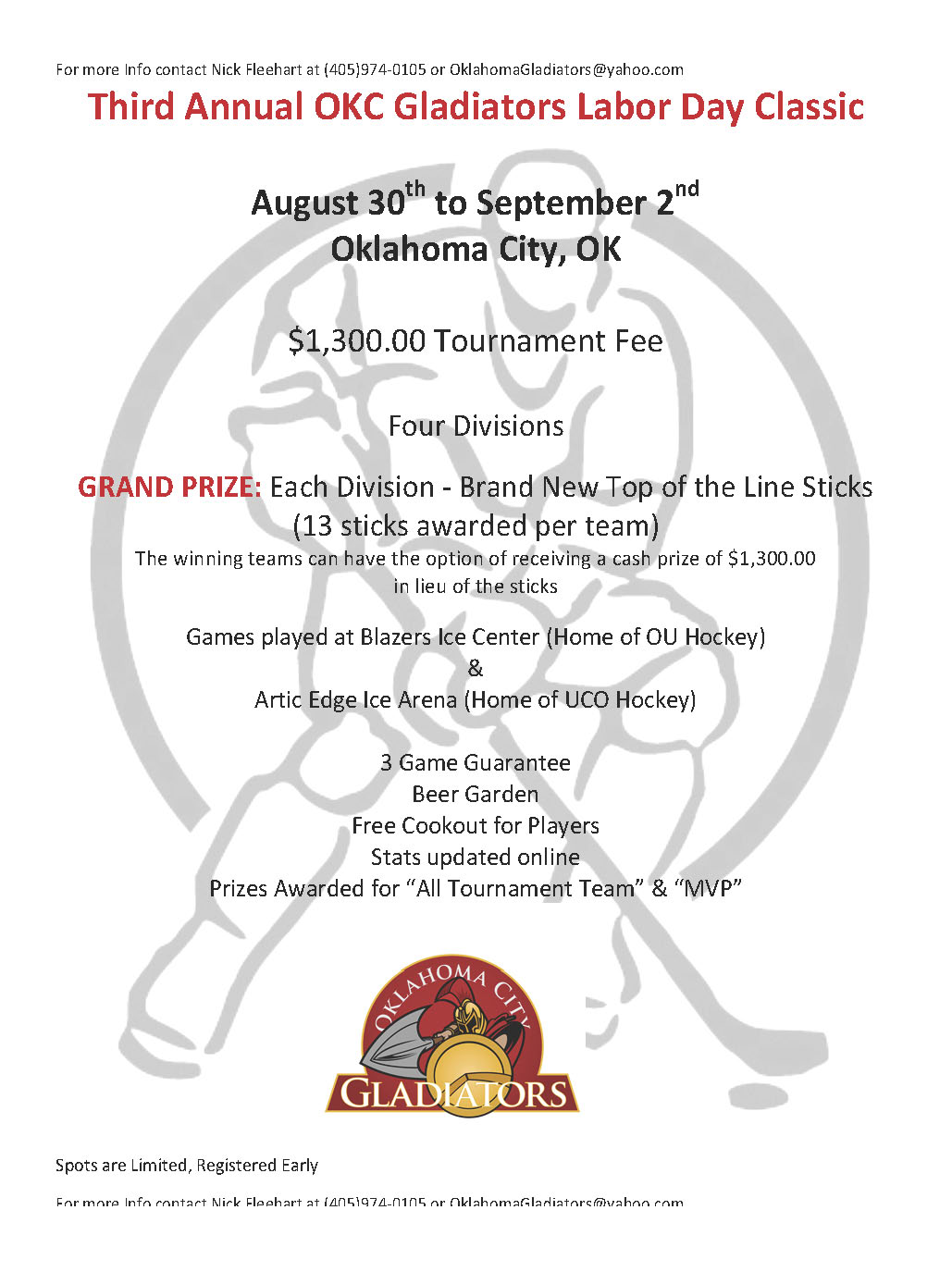 2013 Tournament Flyer